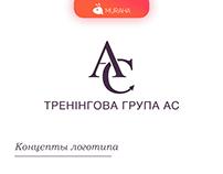 Логотип и сайт для тренинговой группы АС
