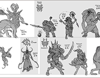 Enemies sketches