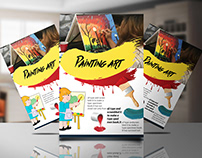 ✰ Paint art Flyer Design and 10 free Mocup download ✰