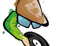 Kay Funk DJ Logo Design
