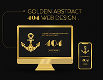 Golden Abstract 404 Web page Design