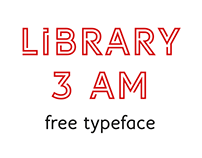 Library 3 am | free typeface