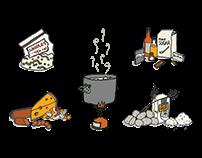 Blog Illustrations for NOLS