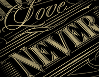 God's Love never fails | Typography