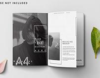 Free Magazine A4 Opened Mockup