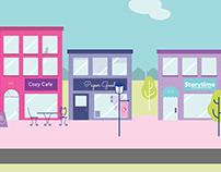 Illustrated Street Scene