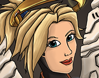 Mercy (Overwatch) FanArt Illustration
