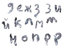 flatten font / aluminium foil