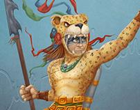 """Guerrero Jaguar-Buzo """"Aztec Divers"""""""