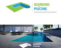 Logo design for Web Portal Gardens and Pools