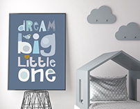 Dream Big / Cushion & Art prints