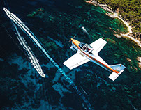 Aeroclub d'Emporda. Aerial shoot at the Costa Brava