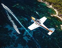 Aeroclub d'Emporda. Aerial shoot at the Costa Brava