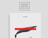 "Concept posters ""Save the planet"""