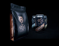 Visual identity and packaging for Øst Kaffekompani