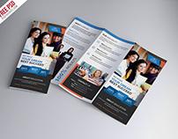 Free University Education Tri Fold Brochure PSD