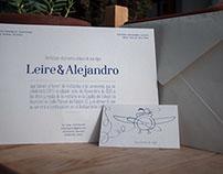 Papeleria Boda. Leire&Alejandro