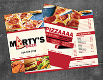 Marty's Pizza Rebrand