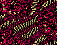 Ethnic Dotted Seamless Patterns