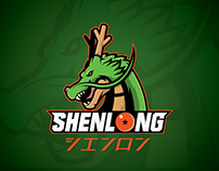 Dragonball Z Inspired Shenlong Athletic Logo