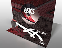 ASICS Window and In-store display - 3D render