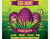 Egg Hunt Easter – Free Flyer PSD Template