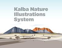 Kalba illustrations - UAE
