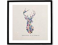 Geometric Animal Art - Personal Illustration Project
