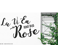 FREEBIES Font - La Vie En Rose