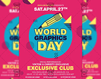 World Graphics Day - Community A5 Flyer Template