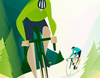 Ilustración Ciclismo- Banco Popular