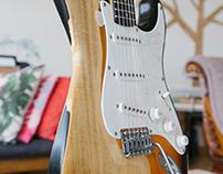 Saucy Sally - Fender Squire Strat - Heavy Relic