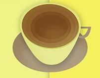 Coffee Mug - Poster Object Design | Depth shadow effect