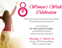 Corporate internal Women's Day Celebration Mailers