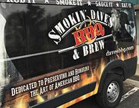 Smokin' Dave's Logo Refresh, Sauce Packaging & Van Wrap