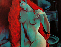 Red Haired Nude, 2013
