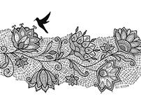 Lace bird