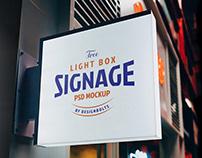 Free Light Box Signage Mockup PSD
