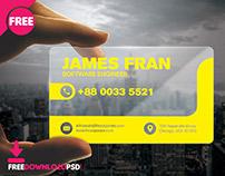 Transparent Premium Visiting Card
