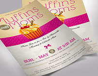 Muffins with Moms Flyer Word Publisher Template