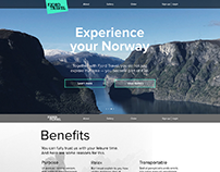 Fjord Travel Landing Page