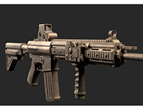 gun model-hk416