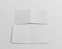 Free PSD Bi-Fold Brochure Mockup