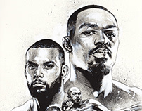 Illustration - UFC 239 // Jones VS Santos
