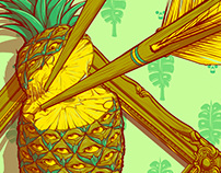 Psychedelic Pineapple Poster