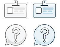 Authentication icons