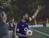 Free Football Soccer Player Logo Mockup PSD