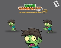 Zombie Game 2D Character Sprite