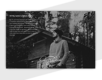Website and Identity for my friend Anton Zhilin