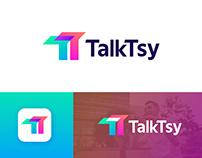 TaklTsy - Social App Logo and Brand Identity Design